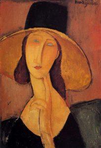 amedeo modigliani Jeanne Hébuterne con cappello cctm arte a noi piace leggere