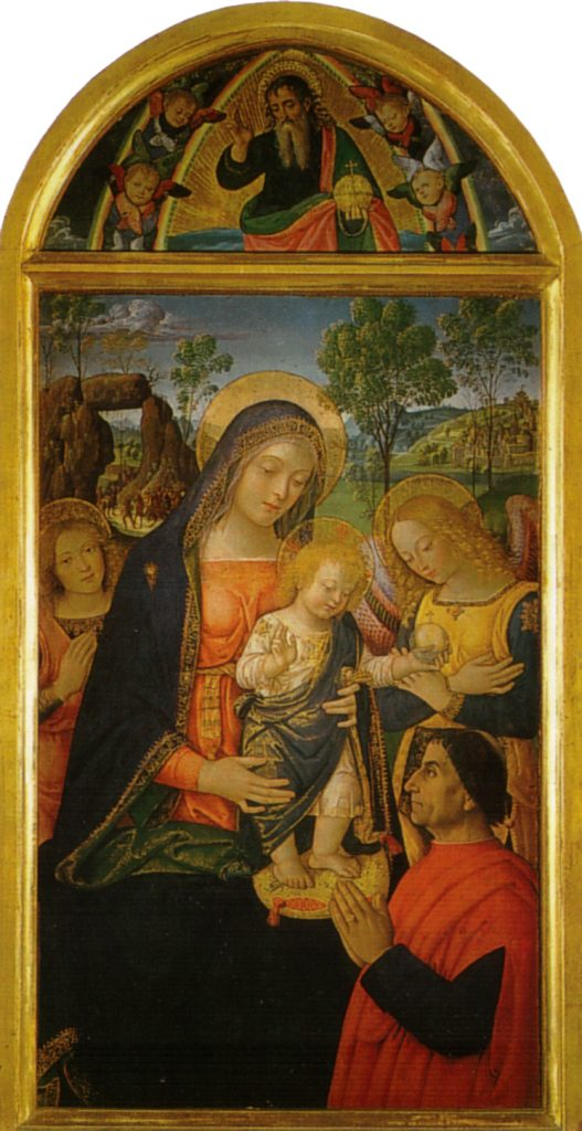 pinturicchio madonna della pace cctm pittura a noi piace leggere