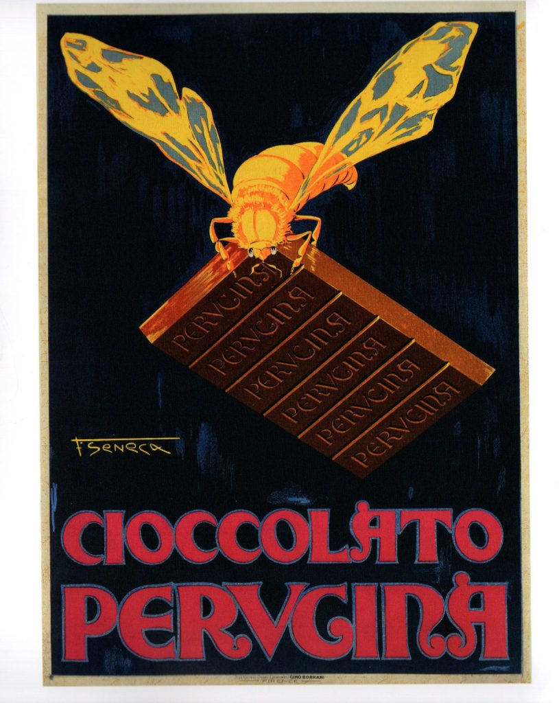 federico seneca cioccolato perugina cctm a noi piace leggere poster
