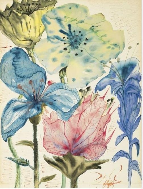 Salvador Dalì Fleurs arte cctm a noi piace leggere