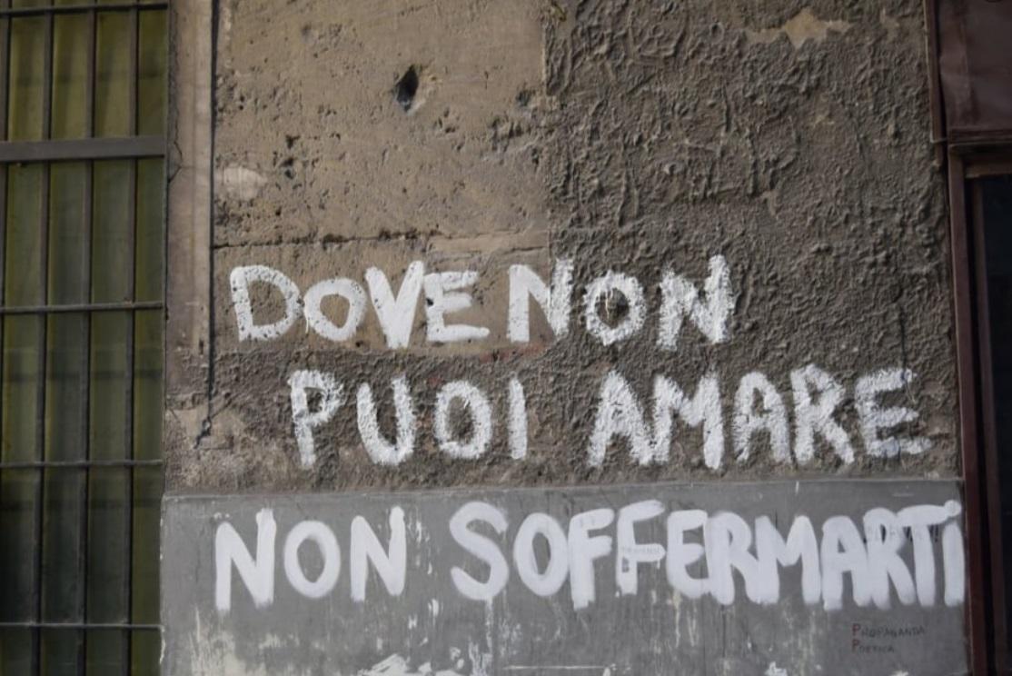 scritto sui muri - Palermo cctm a noi piace leggere amore